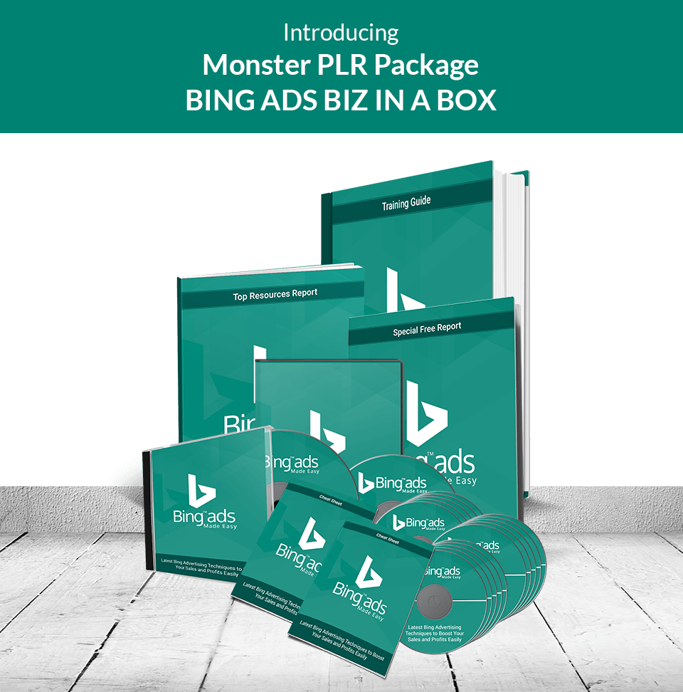 Bing Ads Biz in a Box Monster PLR Review