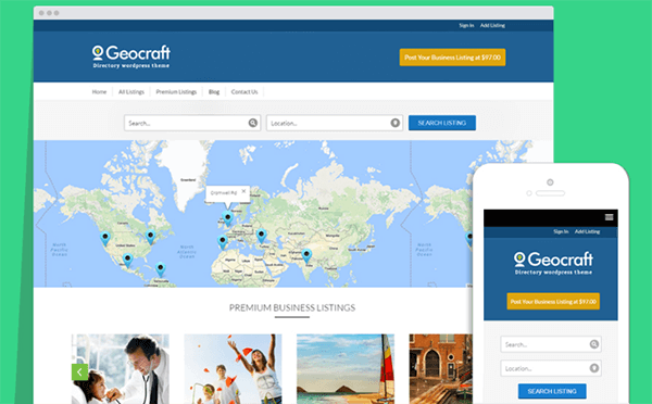 GeoCraft Directory WordPress Theme Review