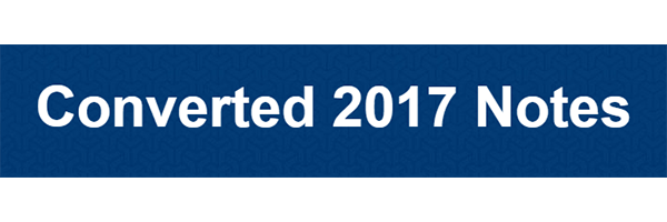 Converted 2017 Notes Review – For Legitimately Life-Changing Information