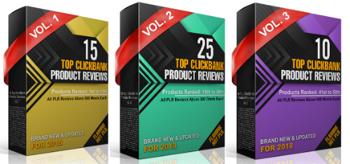 2018 Top ClickBank Product Reviews PLR Review