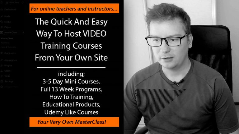 MasterClass Plugin Review – How To Setup A Video MasterClass On Your Site