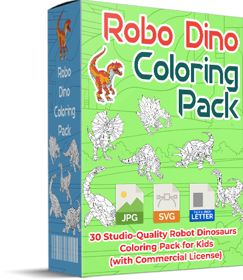 Robo Dino Coloring Pack Review