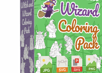 Witch and Wizard Coloring Pack Review
